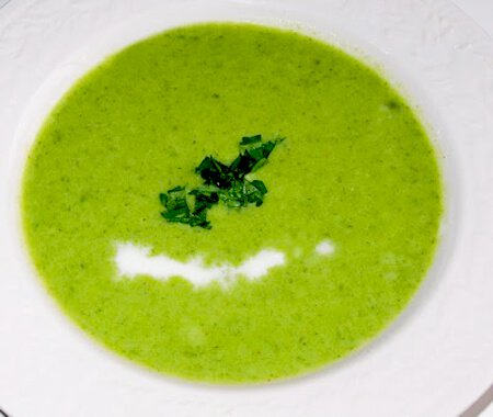 Chilled Pea and Leek Soup