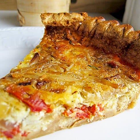 Bacon Sun Dried Tomato Quiche