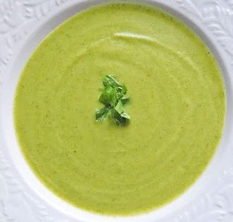 bowl of broccoli soup
