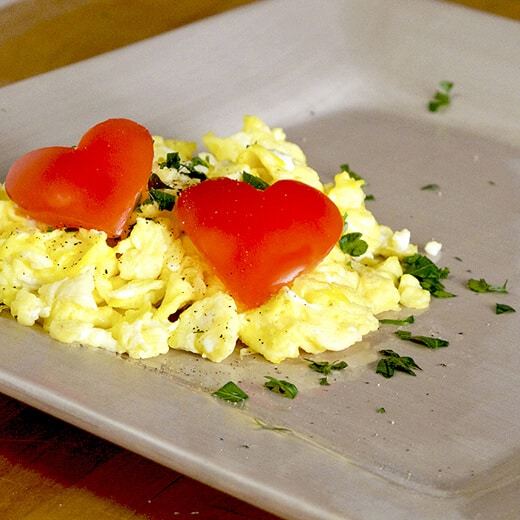 Valentine's Day Scrambled Eggs
