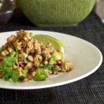 ground chicken with lime and cilantro