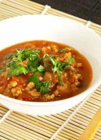 bowl of thai pork in chili sauce