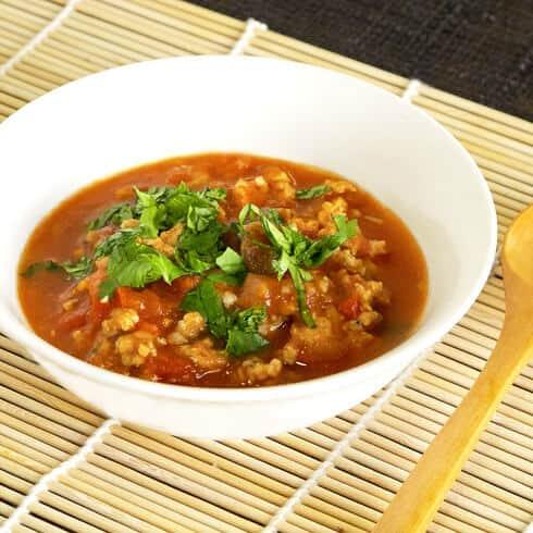 Thai ground pork in chili sauce