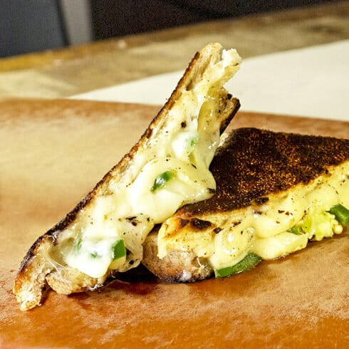 gruyere and jalapeno grilled cheese