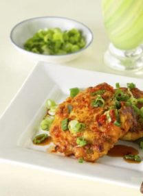 salmon and scallion fish cakes