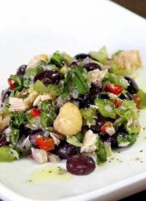 tuna beans vegetable salad