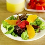 salad with red peppers and oranges