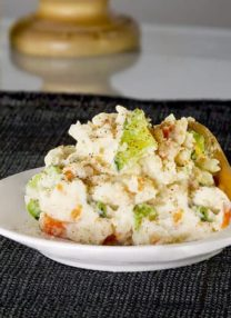 potato salad with carrots and mayonnaise