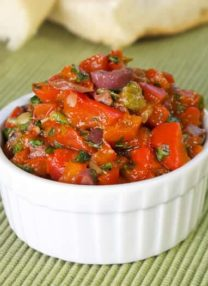 red pepper, capers and kalamata olives spread
