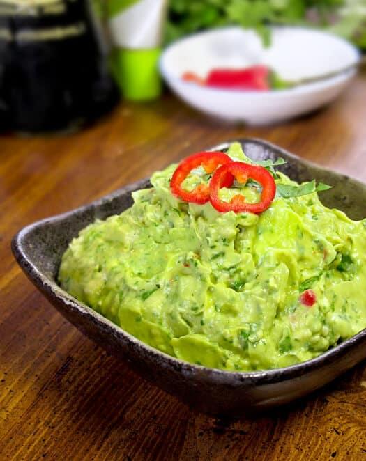 wasabi avocado dip
