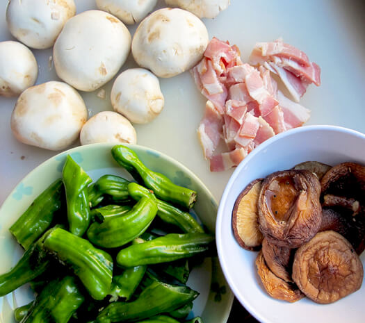 vegetables and bacon