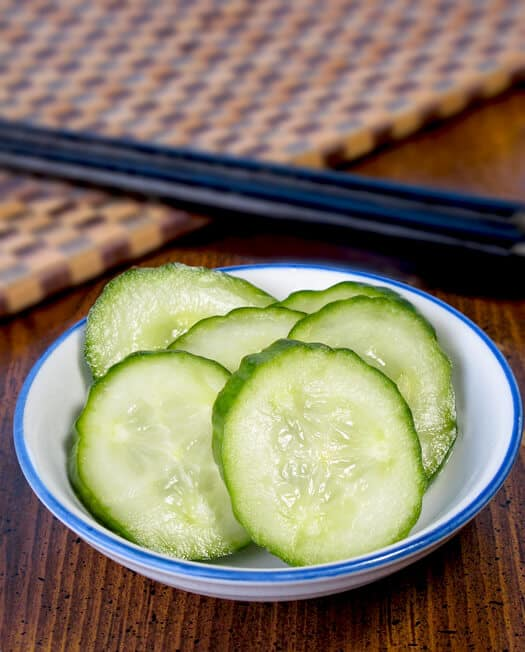 Pickled cucumbers are so versatile and delicious! They pair well with salads, sandwiches, mains and can be served as a side dish or a snack. And the best part? They only take 5-10 minutes to make and 30 minutes to marinate! Here are some of my favorite cucumber pickle recipes! #asian #vinegar #pickles #howtomake | pickledplum.com