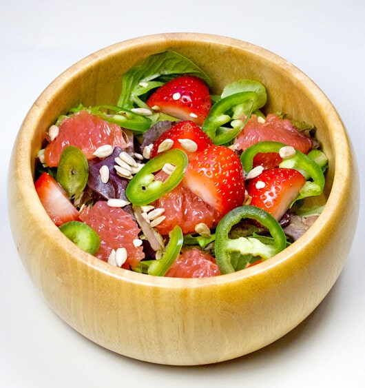 grapefruit strawberry salad