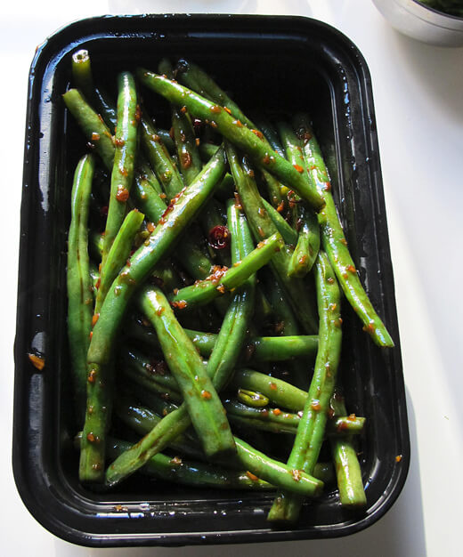 green beans stir fried with oyster sauce