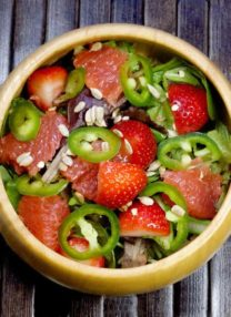 strawberry jalapeno grapefruit citrus salad