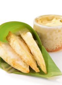 deep fried bamboo shoot with mayo