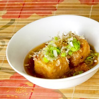 Agedashi Tofu Recipe - A traditional Japanese recipe of deep fried tofu in sweet and savory tsuyu broth.