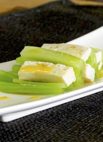 celery with silken tofu and spicy chili oil