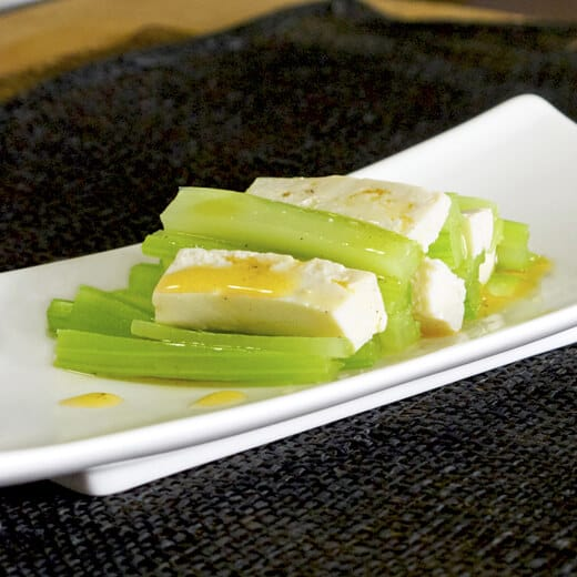 tofu and celery salad