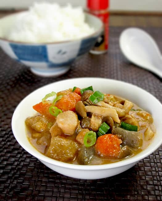 Japanese chicken vegetable stew