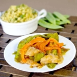 ginger pork snow peas