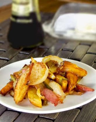 Japanese german potatoes with bacon