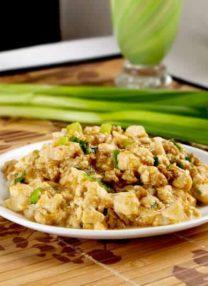 Chinese Mapo tofu with ground chicken
