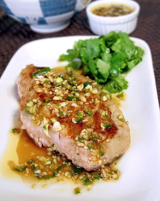 Pork with garlic ginger sauce