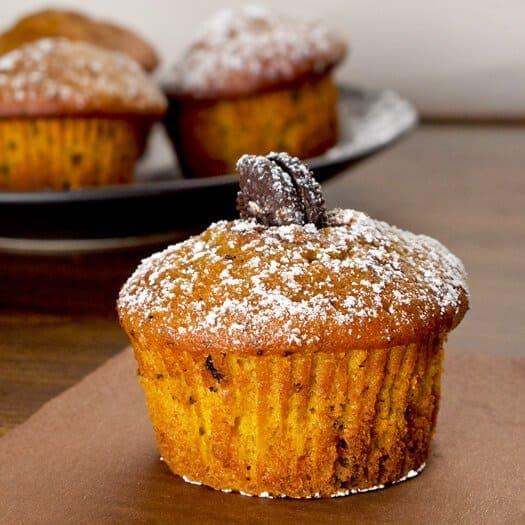pumpkin oreo muffin