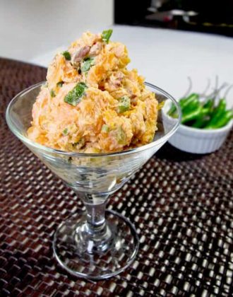 sweet potato and scallion salad with ginger