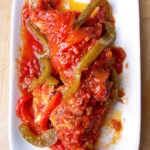 chicken tomato stew with peppers