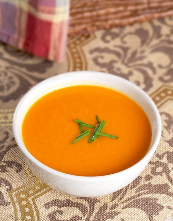 Spicy tomato & sweet potato soup - Pickled Plum Food And Drinks