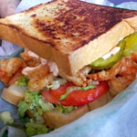 shrimp po'boy sandwich