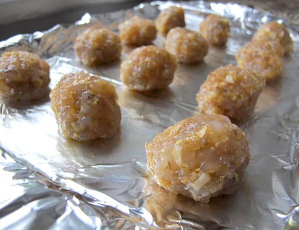 raw shrimp balls