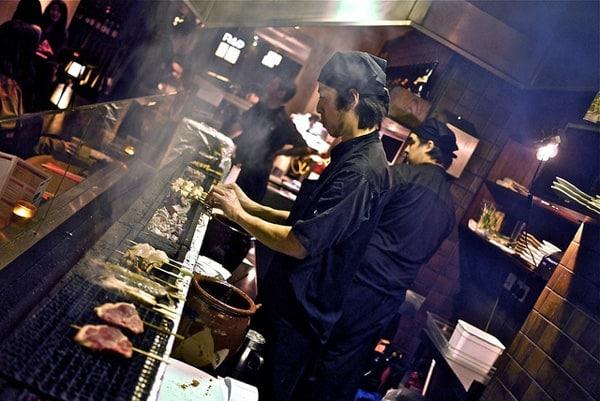 skewered Japanese yakitori