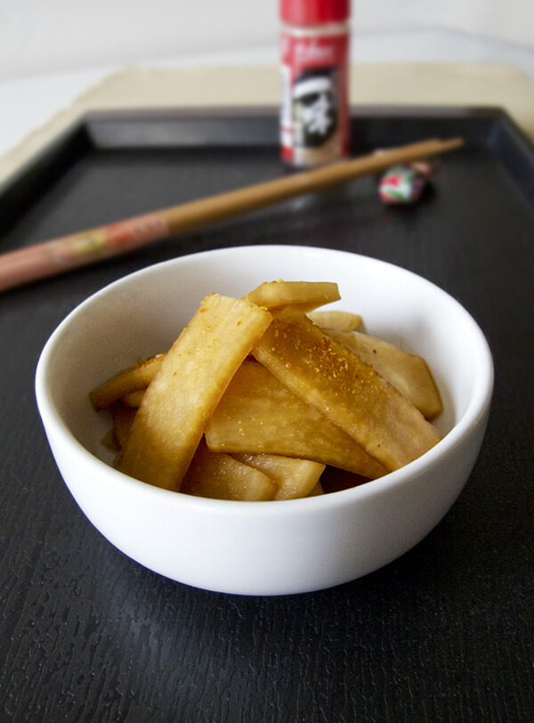 Pickled Daikon (Japanese Style)