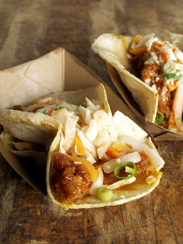 fried chicken taco