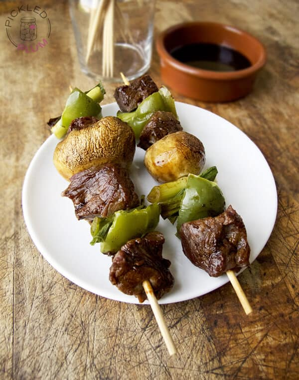 beef yakitori marinated in tare sauce