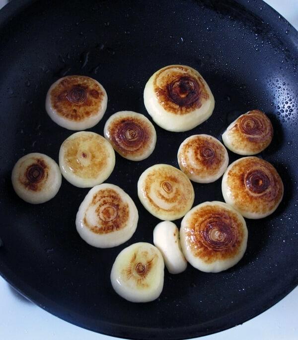 cipollini onions frying