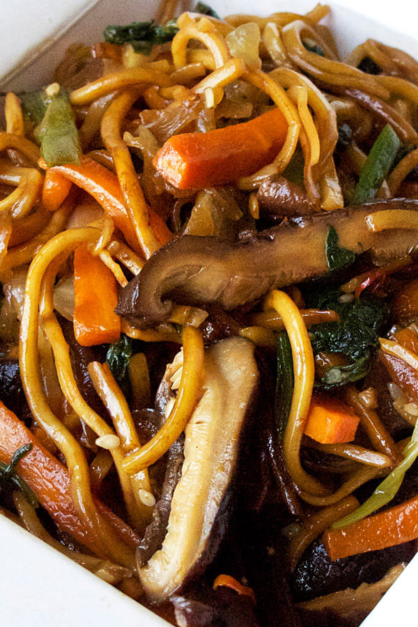 Better than takeout vegetable chow mein recipe that's earthy, savory and ready in just 20 minutes! The best!