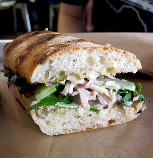 roast chicken sandwich