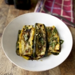 marinated zucchini slices