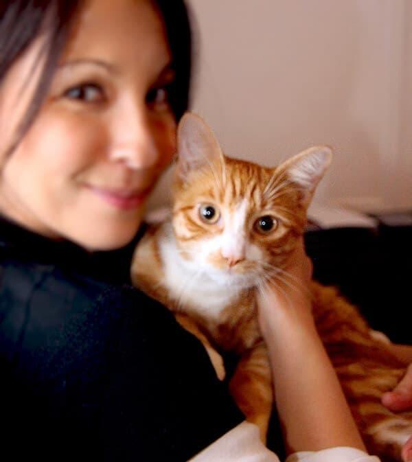 Tsukune and me.