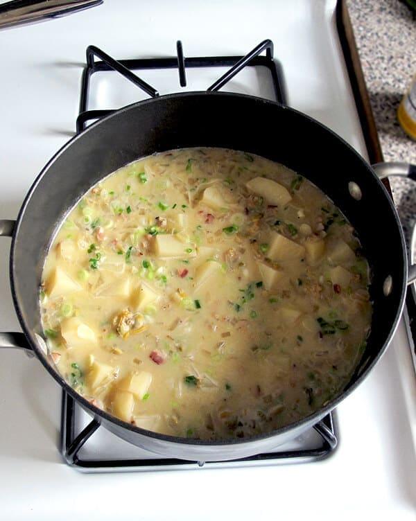 chowder simmering