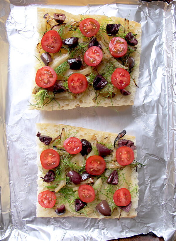 ciabatta veggies