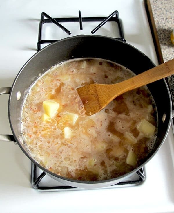 potatoes and broth