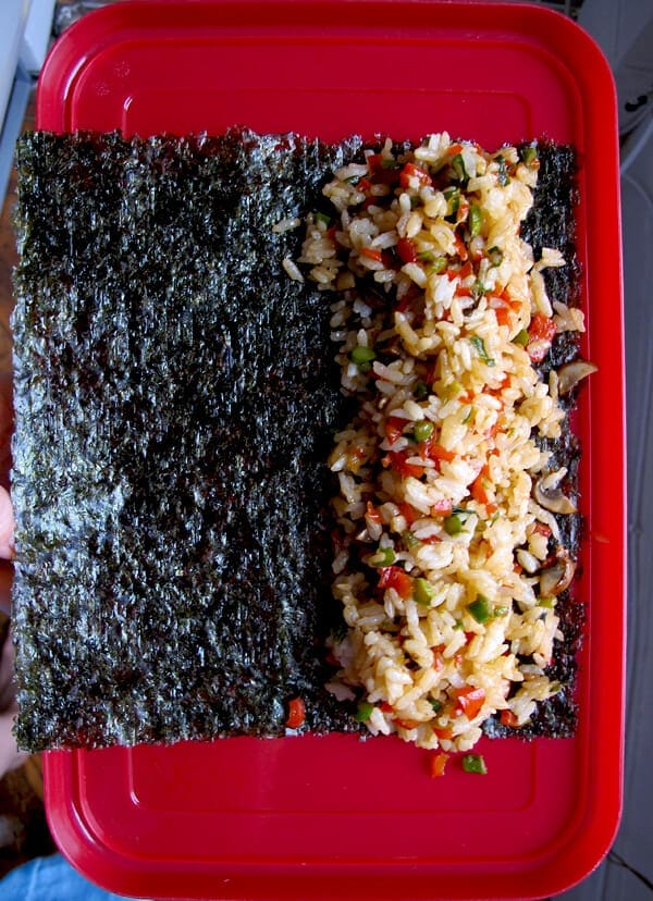 rice wrapped in nori