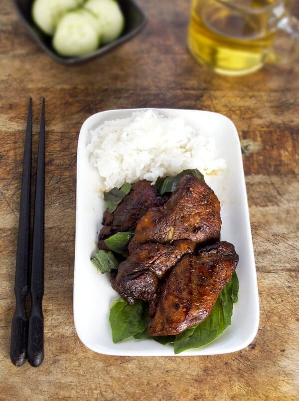 spicy basil soy chicken