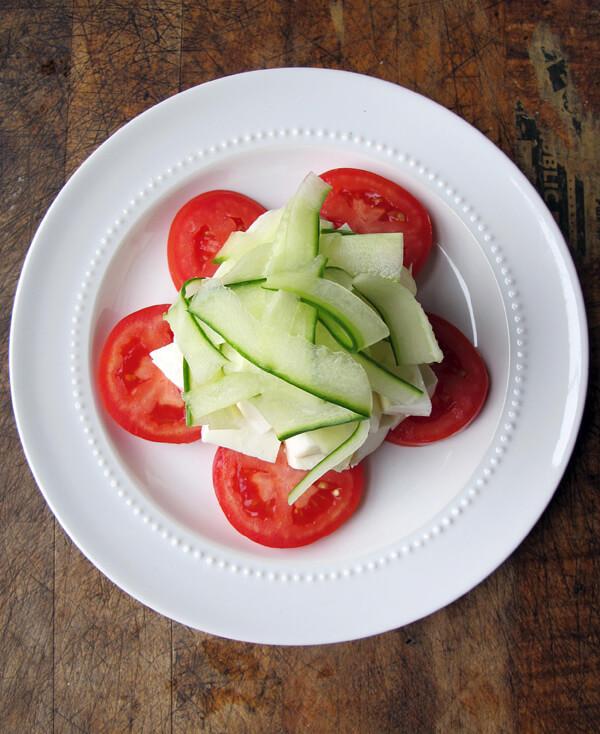 tomato mozz cuke