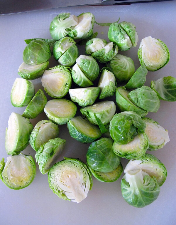 sliced brussels sprouts